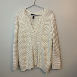 Forever 21 Waffle Cable Knit Oversize Sweater